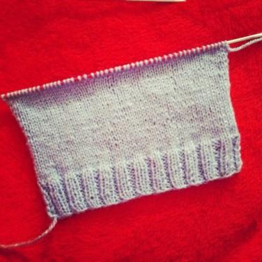 Mon tricot, ça avance !!