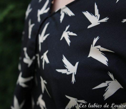 Robe oiseaux en plein vol - les lubies de Louise- (1)
