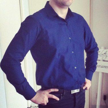 Ma première chemise homme est une réussite ! #fierté