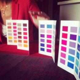 Atelier colorimétrie avec les copines et En Harmonie