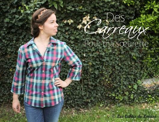 Chemise à carreaux pour Alice - Les lubies de louise-titre