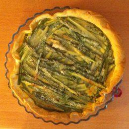 Essai tarte aux asperges et parmesan