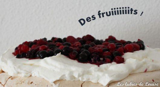 Recette facile et rapide Pavlova aux fruits rouges - Les lubies de louise-fruits