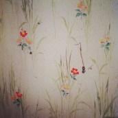 Bye bye vieux papier peint... mon futur atelier