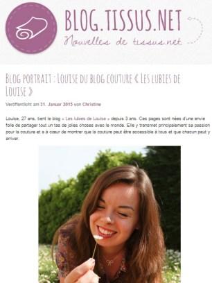 Interview tissus.net janvier 2015