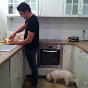 Premier repas préparé dans notre nouvelle cuisine