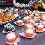 Le joli buffet de la flower party truffaut