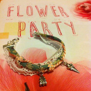 Un bracelet fleuri