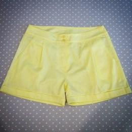 J'ai cousu un short jaune