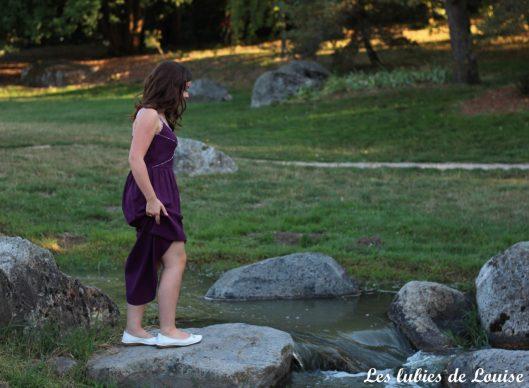 Robe centaurée mariage violet - les lubies de louise-77