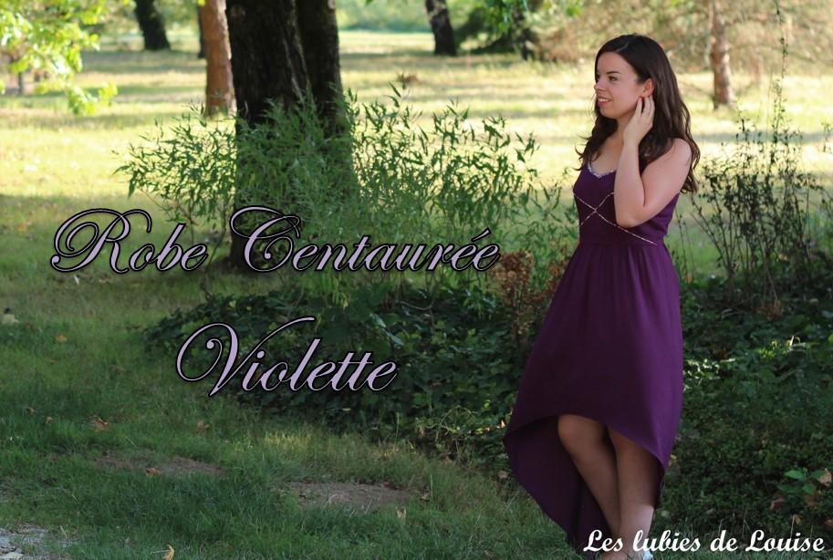 Robe centaurée mariage violet titre - les lubies de louise
