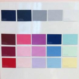 Les couleurs de ma garde robe