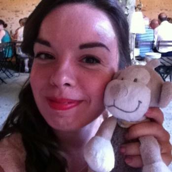 Selfie avec le doudou de ma nièce, hihi :)