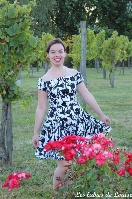 Seda dress pauline alice black and white- les lubies de louise-5