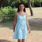 La robe centaurée est sur le blog !