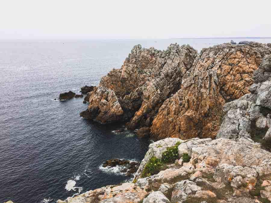 rochers et mer de la pointe du pen hir
