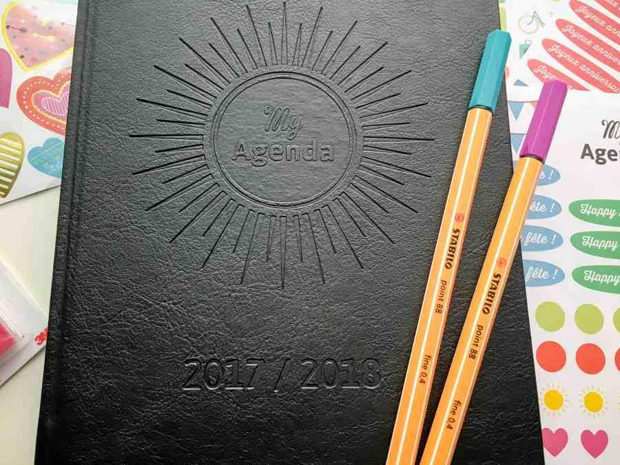 My agenda 365 bullet journal avec feutres