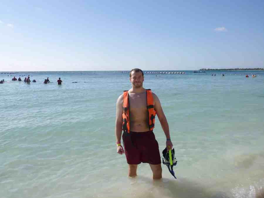 Jeff en gilet de plongée à Akumal