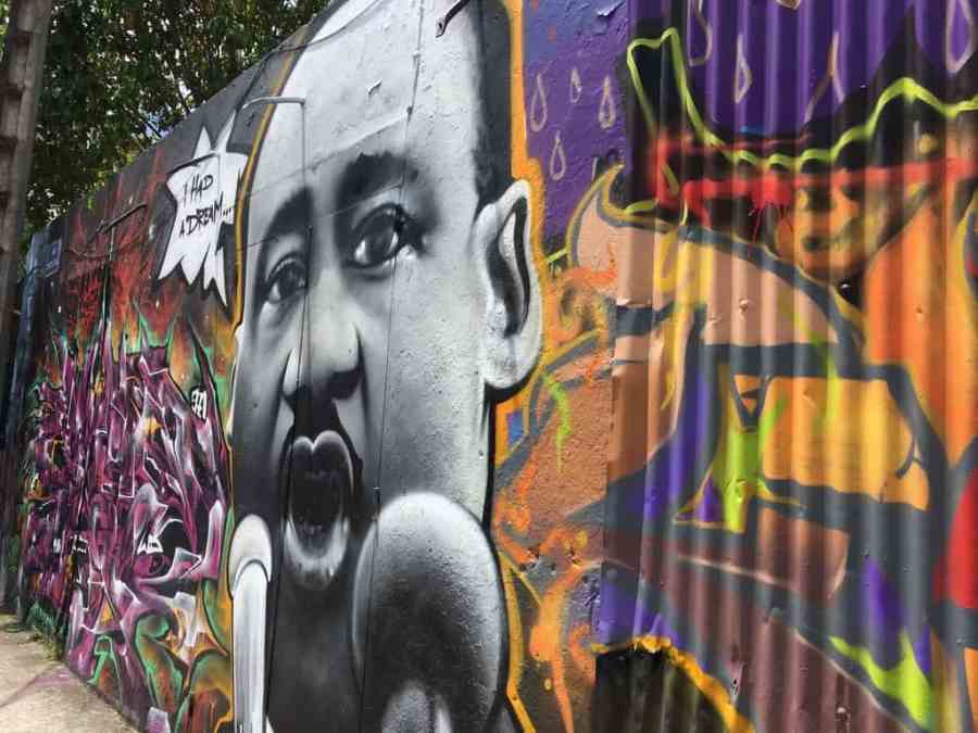 street art-pointe pitre-oeuvres-graf-tag-mural-martin luther king-couleurs-i have a dream