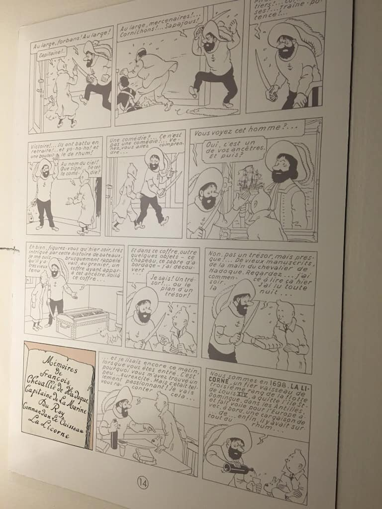 chateau-cheverny-loire-moulinsart-musee-exposition-tintin-herge-bd-planche-dessin