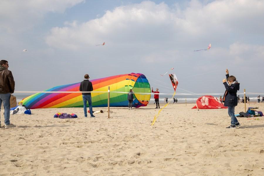 Cerfs volants colorés à Berck