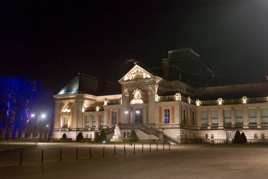 Le musée des beaux arts de Valenciennes en nocturne