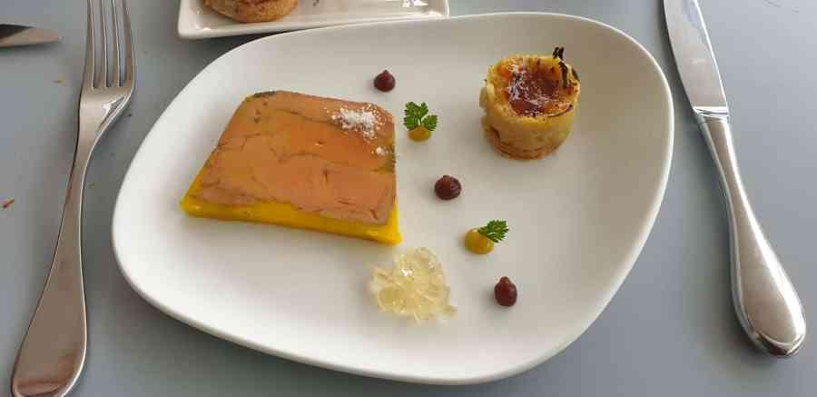 Foie gras au restaurant Marc Meurin à Lens
