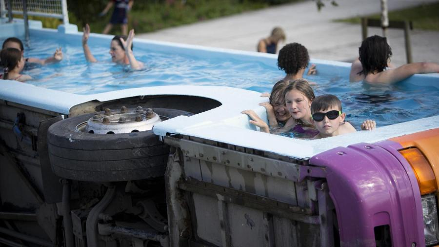 Le bus piscine de Benedetto  Bufalino à Lens