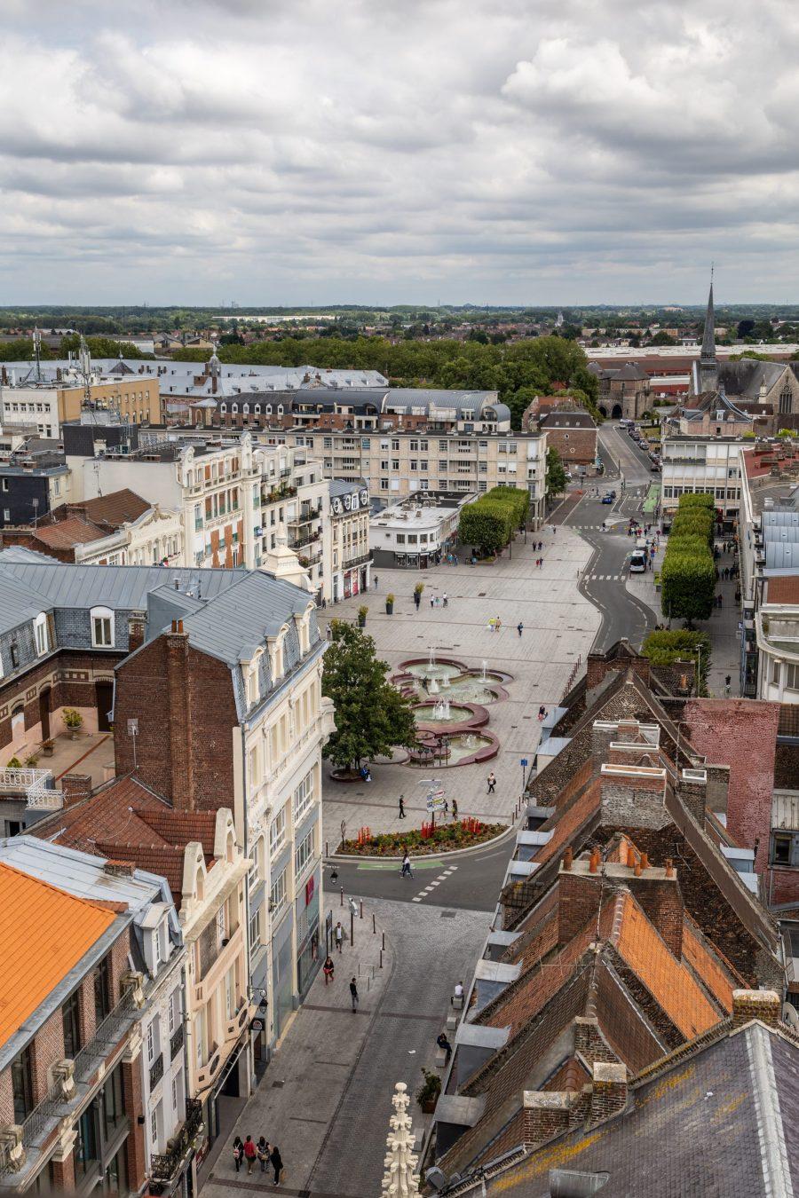 Vue panoramique depuis le Beffroi de Douai
