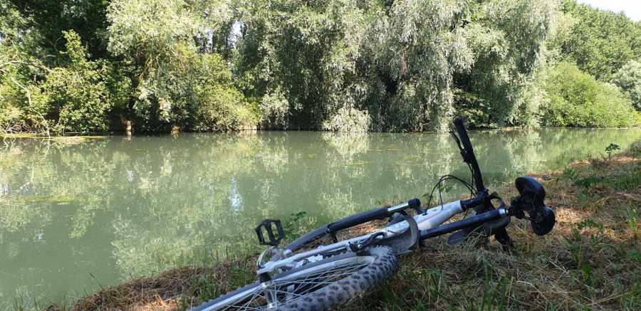 Balade à vélo le long de la Scarpe à Saint Laurent Blangy