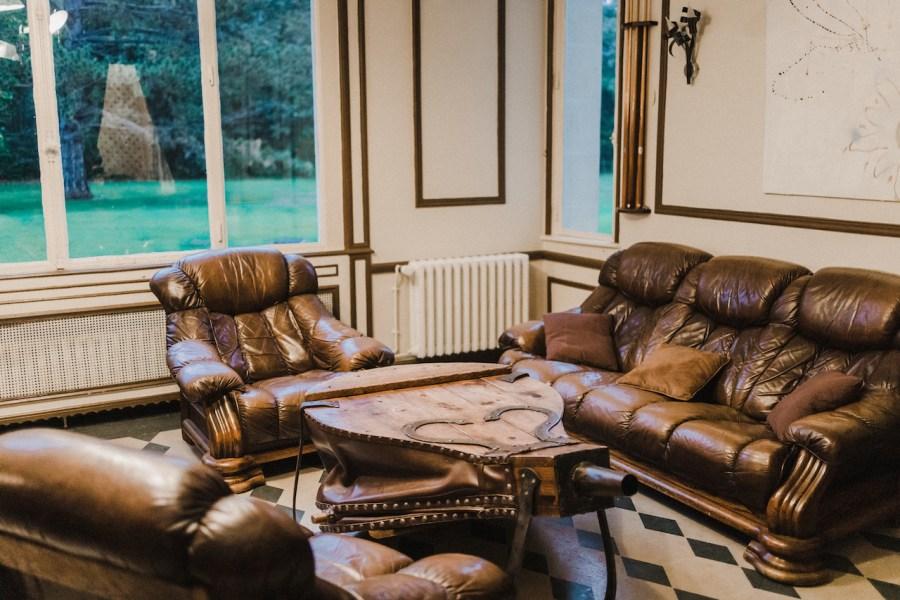 Salon vintage au château de Breuil
