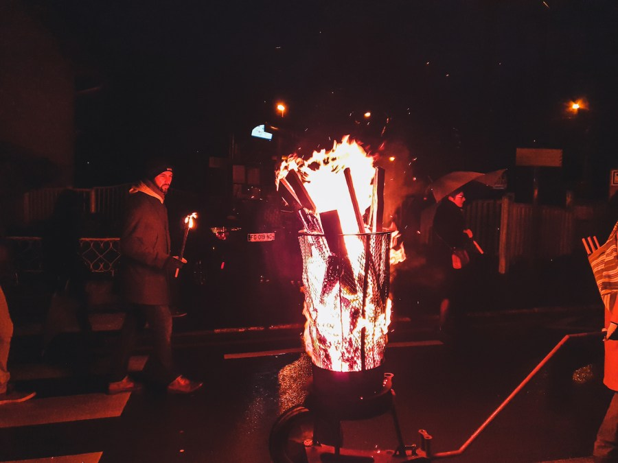 Le feu de la Sainte Barbe à Loos en Gohelle