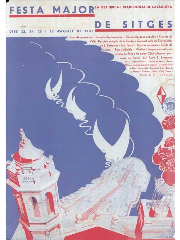 Cartell de Festa Major de Sitges 1935