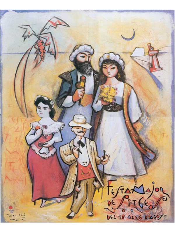 Cartell de Festa Major de Sitges 2002