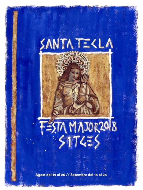 Cartell de Santa Tecla a Sitges 2018