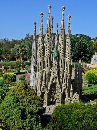 Sagrada Familia a Catalunya en Miniatura.