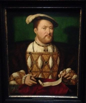 Pas de Tudors sans Henri VIII. Portrait par Joss Van Cleve vers 1530-1535