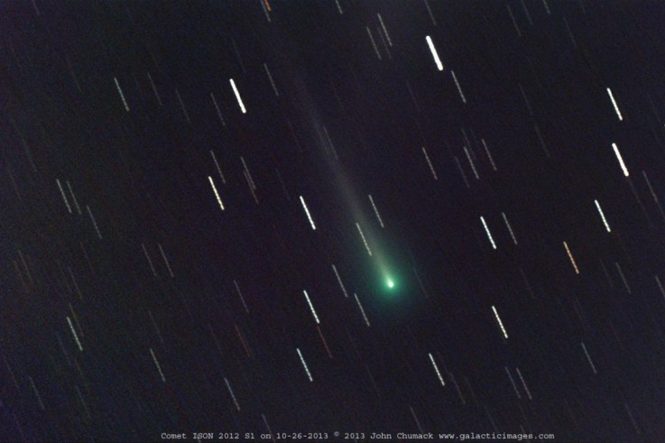 Comet ISON Nucleus on 10-26-2013 at  05:43 to 06:27 am E.S.T. or