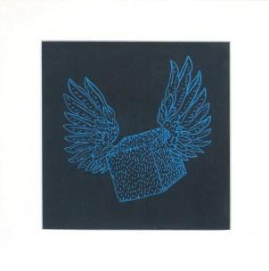 LUCCI Dominique Cubes à ailes, 2010 linogravure 33x33 cm