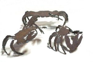 Crabes sculpture en fer