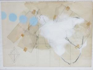 ERBELDING Patricia Sans titre 2001Cire et collage sur papier31x41 cm