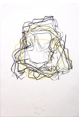LE SAËC Thierry Sans titre technique mixte 53x38 cm