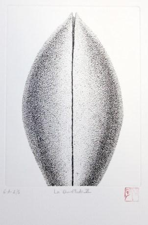 OKAMOTO Hiroko La quiétude IX gravure (2/5) 43x32 cm