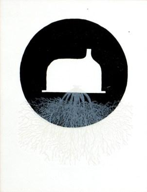 RASSOUW Benoit Le sommeilleur prend racine, 2003 gravure 34x26 cm