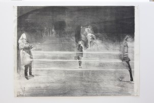 LE FOLL André Silhouettes silencieuses Lithographie 50x70 cm