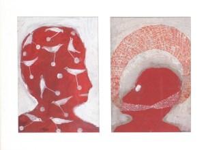 DUPREZ Alexandra Sans titre, 2003Gouache sur carton40x55 cm