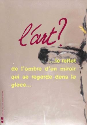 LINDER Marc Sans titre, 1998 Sérigraphie par Alain Buyse affiche n°34 53x38 cm