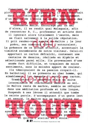 NADAUD Daniel Sans titre, 1998 Sérigraphie par Alain Buyse affiche n°36 53x38 cm