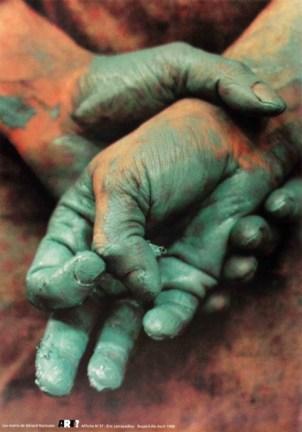 LARRAYADIEU Eric Les mains de Gérard Garouste Sérigraphie par Alain Buyse affiche n°37 53x38 cm