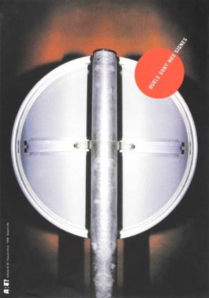 COLRAT Pascal Sans titre, 1999 Sérigraphie par Alain Buyse Affiche n° 59 53x38 cm